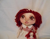 Natalie Rag-A-Boo, A Cloth Art Doll by Liz Parent