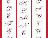 """1.25"""" Small Script Stencil for Cakes & Cupcakes - Designer Stencils (C109)"""