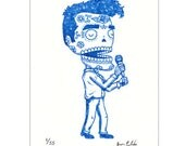 Morrissey Calavera Limited Edition Gocco Screenprint Day of the Dead