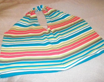 Multi Color Stripes #2 Recycled Tshirt Shopping Bag