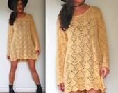 Vintage 80s 90s Cream Knit Sweater