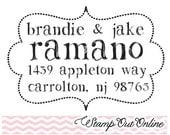 Return address custom rubber stamps self inking Super cute custom rubber stamps --2987