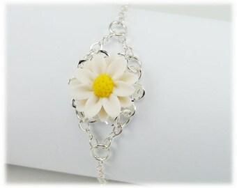 Daisy Clasp Bracelet - Daisy Jewelry, Daisy Filigree Bracelet