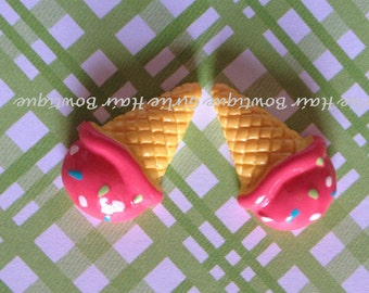 Ice Cream Resins- MTMG Ice Cream Sweetie, Hairbow Center, Jewelry Supply, Bracelet Charm, Necklace Charm, Ring, Scrapbooking, MTMG, M2MG