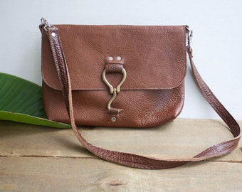 Farrier Messenger Bag in Brown // Leather Messenger Bag / Brown Leather Crossbody Bag / Crossbody Purse