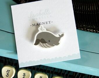 Illustrated Whale Handmade Magnet (Bernie)