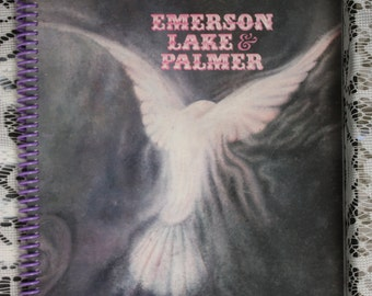 Emerson Lake and Palmer, Recycled, Repurposed Album Cover Spiral Notebook, Sketchpad, Journal, Scrapbook, Diary