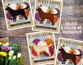 Labrador Retriever dog Seed Company Wildflowers vintage style seed packet artwork by Stephen Fowler Giclee Signed Print