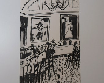 The Dining Room - Limited Edition Print - Illustration - Drawing