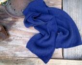 Navy Blue Cashmere scarf Vintage 70s cashmere Scarf Navy winter muffler