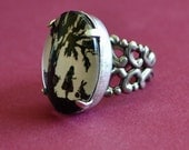 Sale 20% Off // ALICE IN WONDERLAND Ring - Silhouette Jewelry // Coupon Code SALE20