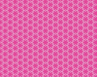Wildflower Meadow fabric by Riley Blake and Fabric Shoppe Fabrics- Meadow Flower in Hot Pink, Fat Quarter, Half Yard or Yardage