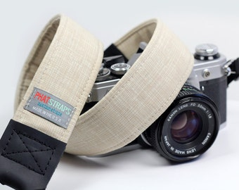Brass Hardware Camera Strap - Retro, Hipster Strap - Four Hundred Crosshatch