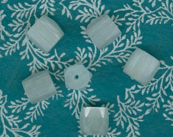 Vintage Shimmery Russian Cut 11 x 11 mm Glass Beads