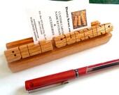 Custom Oak Wood Desk Name...