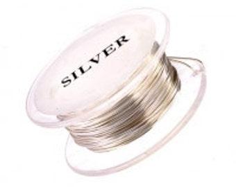 Silver Non Tarnish Craft Wire 18 Gauge Round 4 Yards Half Hard