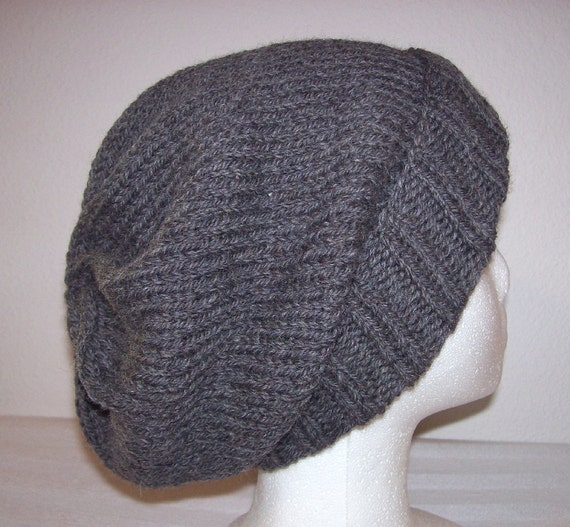 Slouchy Toque Knitting Pattern : Wool Ski Hat Slouchy Knit Beanie Knitted Hipster Toque