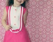 1960 Style Retro Pink Girly Tuxedo dress children girl