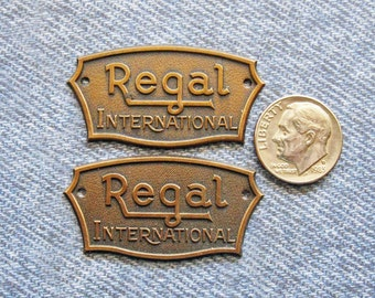 Regal Brass Tag Advertising Ephemera Antique Tube Radio ID Name Plate Repurpose Hardware