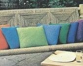 Vintage Pillows Crochet Pattern -  Digitally Restored - Instant Download