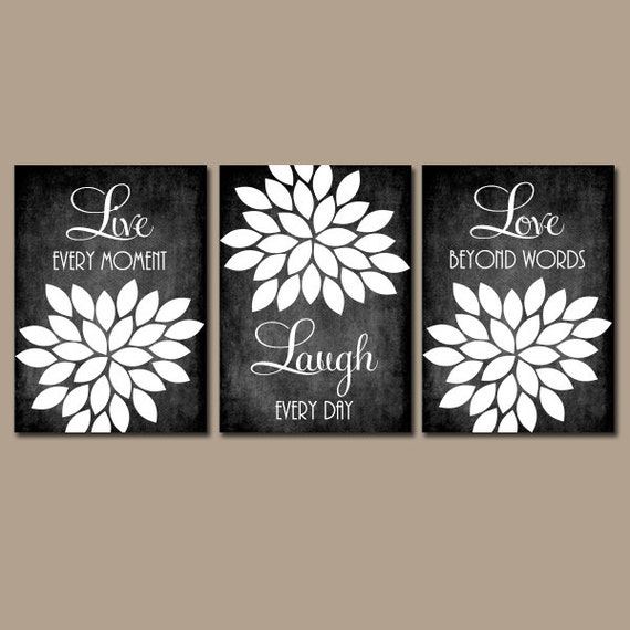 Sayings Wall Art Canvas : Live laugh love wall art chalkboard quote kitchen