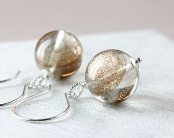 Golden Sand  Quartz   Earrings     Gemstone Jewelry   Sterling Silver  Casual Dangle Earrings Sparkle Jewellery Handmade Jewelry Accessories