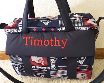 New England Patriots Diaper Bag with changing pad by EMIJANE