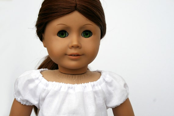 American Girl Doll Clothes - Basic White Peasant Top