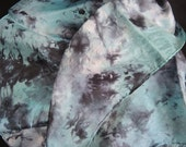 Lichen Silk square medium size  - 54cm or 21 inches approx in marbled tie-dye OOAK unique ready to ship