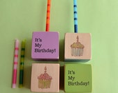 Personalized, Customized Birthday Block Candle