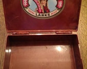 Vintage Corina Larks Extra Mild Cigar Plastic Cigar Box not pristine