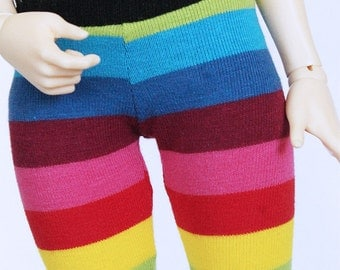 MSD BJD Doll clothes Rainbow stripe legging MonstroDesigns