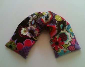 Hot Cold Microwave Heat Wrap / Unscented Flaxseed - Flower Power