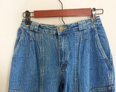 Vintage jeans / vintage denim / lee jeans xsmall small mom jeans 1980s jeans one of a kind