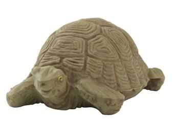 "Land Tortoise - Large  3"" - vintage tortoise miniature tortoise craft project diorama gnome home fairy garden doll house tortoise - IV3-2404"