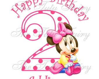 Happy 2nd Birthday Minnie Mouse Images