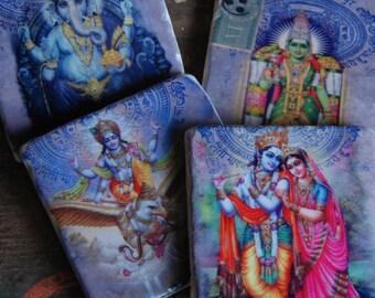 India Gods coaster set