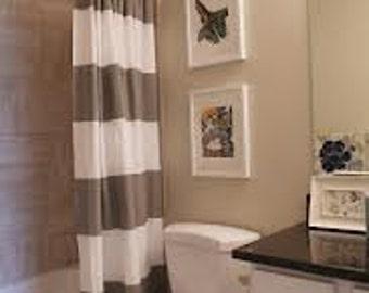 Stripe Linen Shower Curtain - You pick the colors