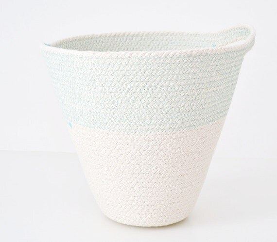 Hanging basket, Rope basket, Planter basket, New home gift, Bathroom storage, Beach house decor, Cotton baskets, Mediterranean style, Cotton