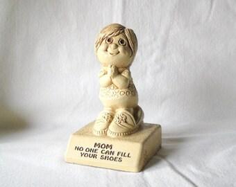 Vintage Figurine Paula Figurine Mom Molded Plastic Figurine 1974 Mom Figurine