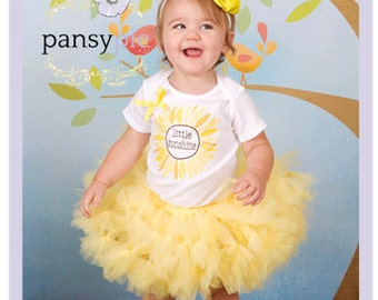 Sunshine Tutu Set Little Sunshine Birthday Toddler Yellow Dress Petti Tutu Dress 9 12 18 Months