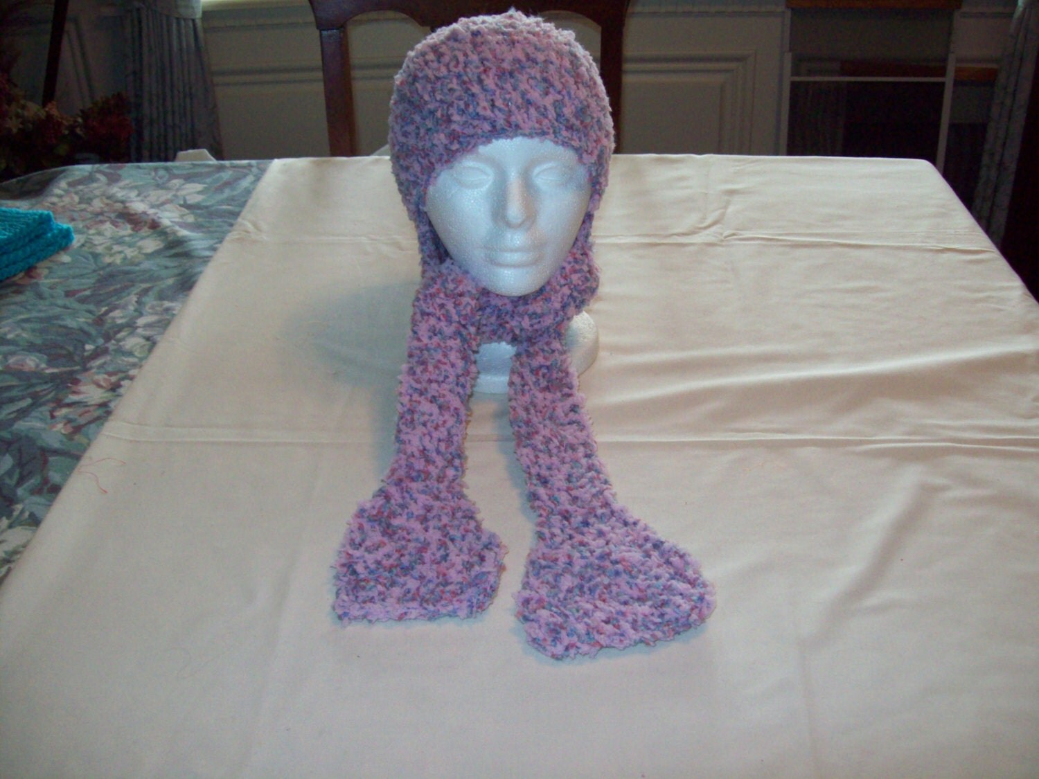 Crochet Pattern Hat Scarf Combo : Soft bulky crocheted hat and scarf combo by pmcglone on Etsy