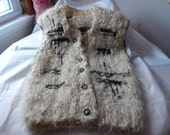 Vest. Adult size M. Handknitted with natural lamb wool unprocessed. Made in USA.