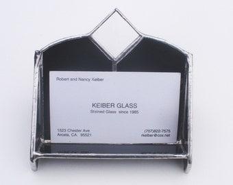 Black Cardholder - Stained Glass Business Cardholder for Men and Women