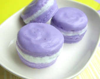 Gift for Her. MACARON Soap, French Macarons, Birthday Party Favors, Thinking of You gift, Birthday gift, Lilac Soap. Best Friend Gift Soap
