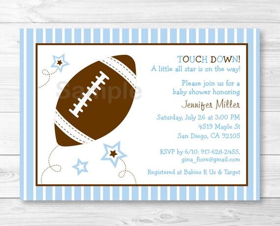 cute football baby shower invitation football baby shower invite