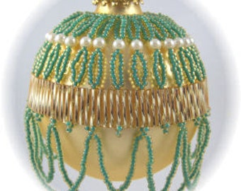 Belle of the Ball Beaded Ornament Cover Pattern