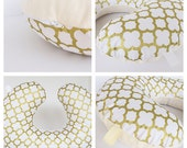 ON SALE BOPPY Cover  / Zipper closure  /  Golden   cotton  print with soft Flat minky / Great neutral gender baby gift
