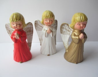 Vintage Ceramic Christmas Angel Trio