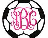 Soccer Ball Monongram Frame Designs 4x4, 5x5, 7x7 and 8x8 - INSTANT DOWNLOAD - formats - dst exp hus jef pes sew vip xxx